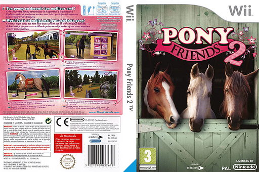 Pony Friends 2 Wii cover (R2RP4F)