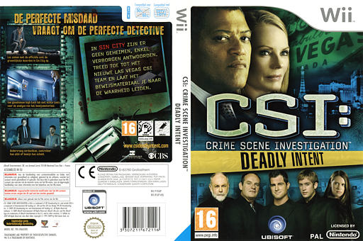 CSI: Deadly Intent Wii cover (R5UP41)