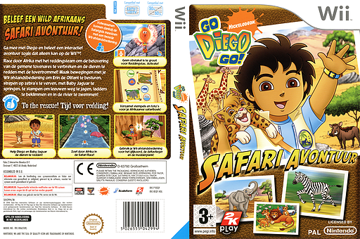 Go, Diego, Go! Safari Avontuur Wii cover (REQY54)