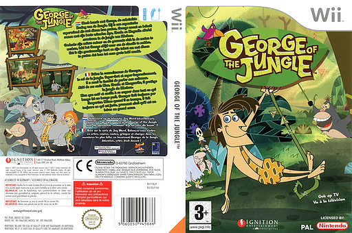 George of the Jungle: Search for the Secret Wii cover (RGJP7U)