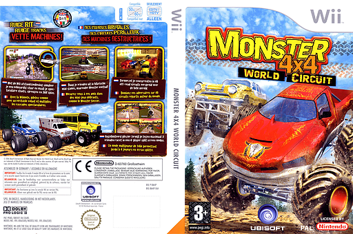 Monster 4x4: World Circuit Wii cover (RM4P41)