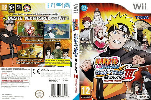 Naruto Shippuden: Clash of Ninja Revolution 3 Wii cover (RNEPDA)