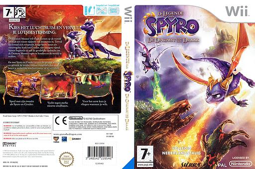 De Legende van Spyro: De Opkomst van een Draak Wii cover (RO8P7D)