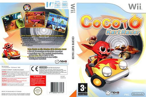 Cocoto Kart Racer Wii cover (ROCPNK)