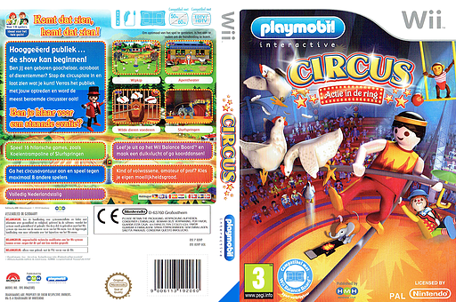 Playmobil Circus: Actie in de ring Wii cover (ROVPHM)