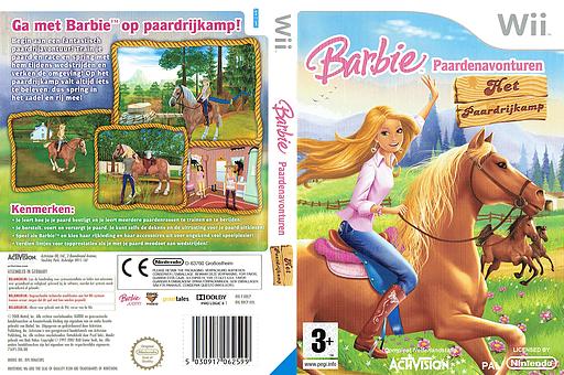 Barbie Paardenavonturen: Het Paardrijkamp Wii cover (RRCP52)