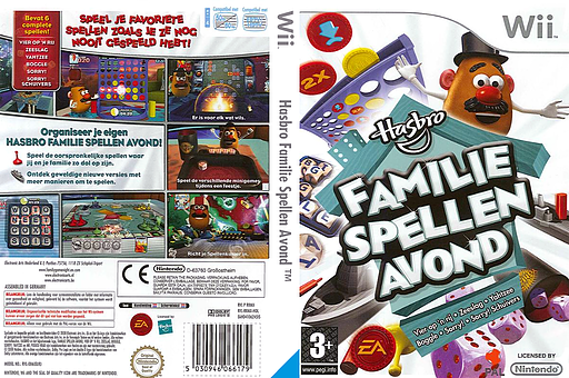 Hasbro Familie Spellen Avond Wii cover (RRMP69)