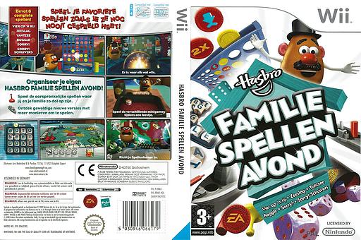 Hasbro: Familie Spellen Avond Wii cover (RRMX69)