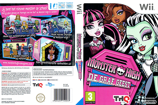Monster High: De Graf Geest Wii cover (SAOP78)