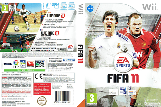 FIFA 11 Wii cover (SELP69)