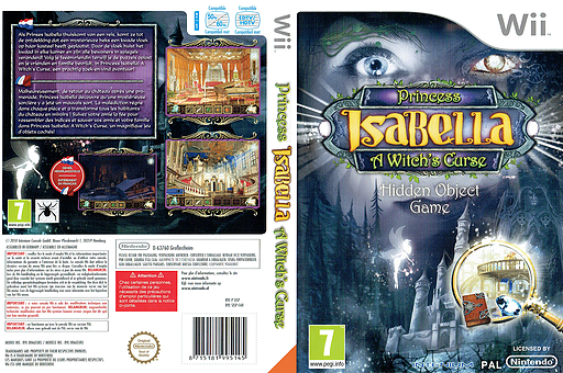 Princess Isabella: A Witch's Curse Wii cover (SISPUH)