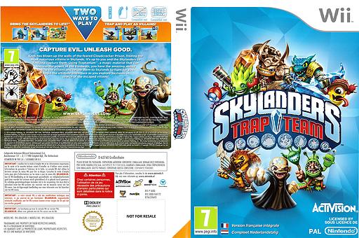 Skylanders: Trap Team Wii cover (SK8D52)