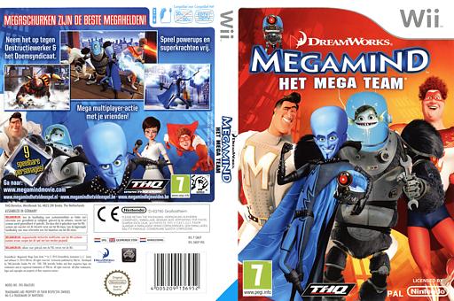Megamind:Het Mega Team Wii cover (SMGP78)