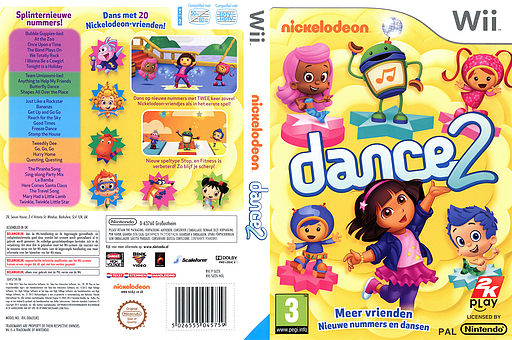 Nickelodeon Dance 2 Wii cover (SU2X54)