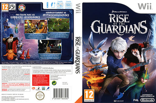 Rise of the Guardians Wii cover (SU7PAF)