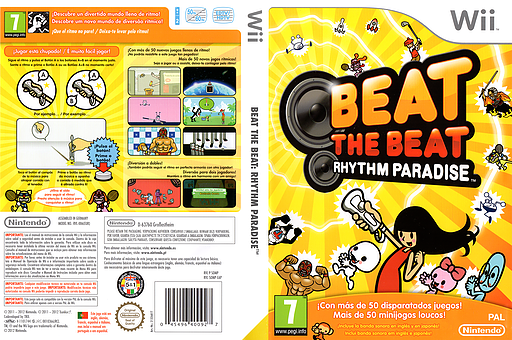 Beat the Beat: Rhythm Paradise Wii cover (SOMP01)