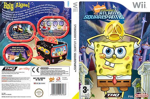SpongeBob's Atlantis SquarePantis Wii cover (RSAP78)