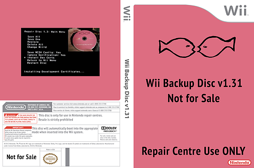 Wii Backup Disc v1.31 Wii cover (410E01)