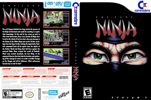 The Last Ninja VC-C64 cover (C9XE)