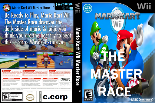 Mario Kart Wii Custom: The Master Race CUSTOM cover (CCPE01)