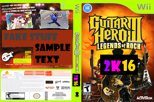 Guitar Hero 2K16 (Custom) CUSTOM cover (CGHE52)