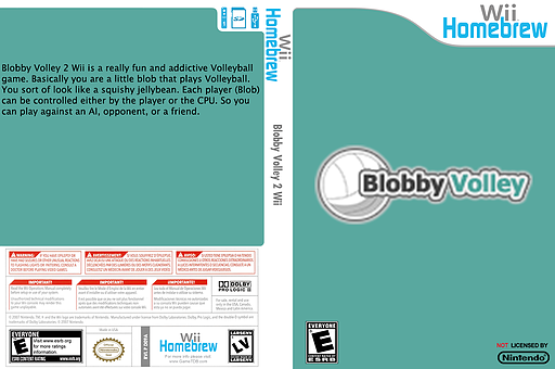 Blobby Volley 2 Wii Homebrew cover (D09A)