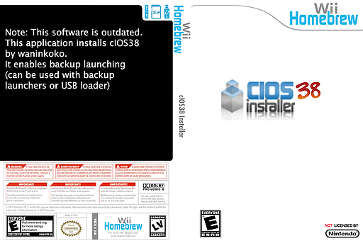 cIOS38 installer Homebrew cover (D38A)