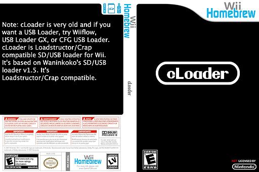 cLoader Homebrew cover (D5CA)