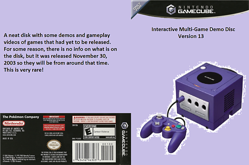 Interactive Multi-Game Demo Disc - Version 13 GameCube cover (D84E01)