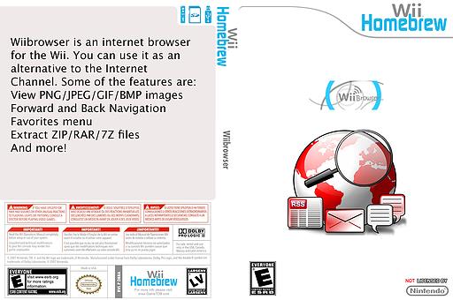 WiiBrowser Homebrew cover (DBRA)