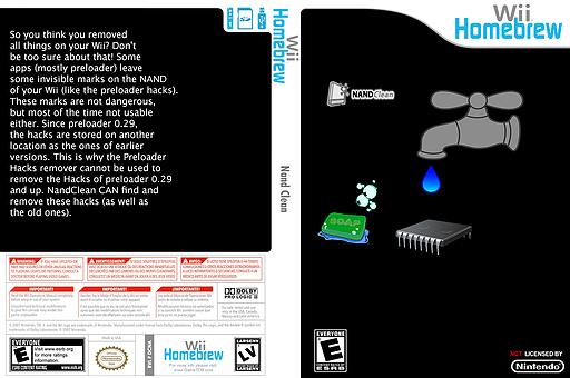 Nandclean Homebrew cover (DCNA)