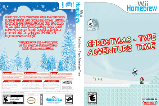Christmas-Type Adventure Time Homebrew cover (DCTA)