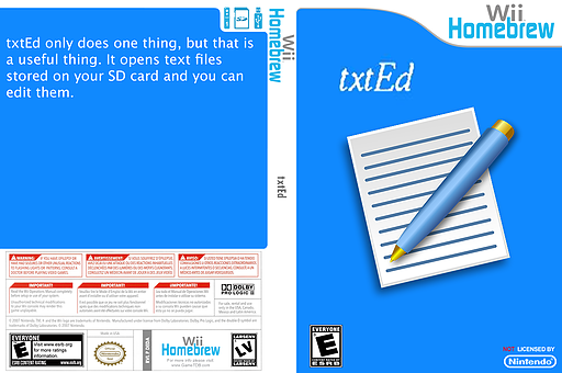 Txted Homebrew cover (DEDA)