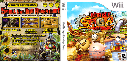 Marble Saga: Kororinpa (Demo) Wii cover (DK6E18)