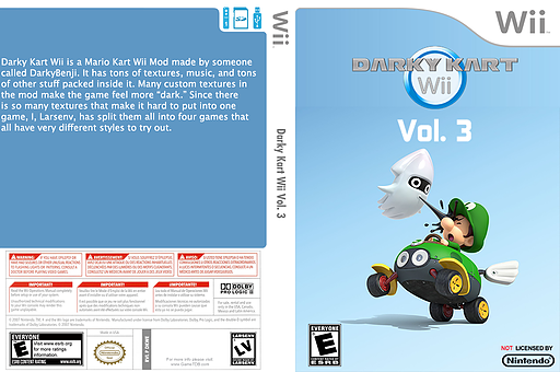 Darky Kart Wii Vol. 3 CUSTOM cover (DKWE03)