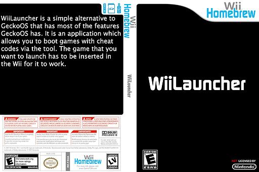 WiiLauncher Homebrew cover (DLUA)