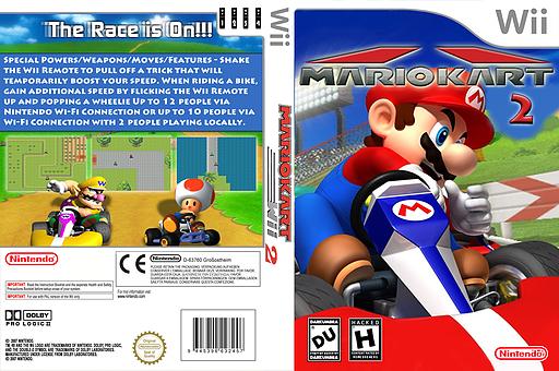 Mario Kart Wii 2 CUSTOM cover (DMKE01)