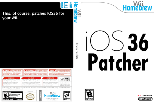 IOS36 patcher Homebrew cover (DP6A)