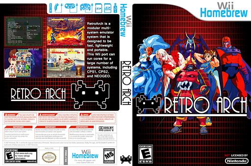 RetroArch-Wii Homebrew cover (DRAA)