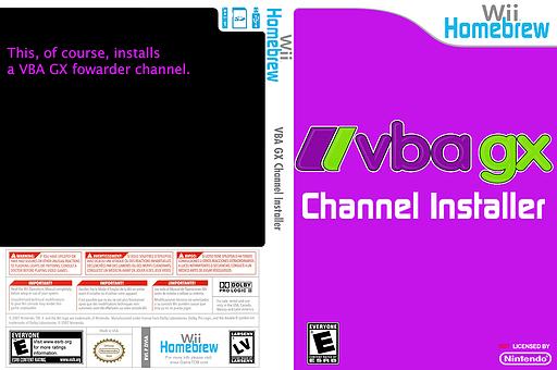Vbagx Channel Installer Homebrew cover (DVIA)