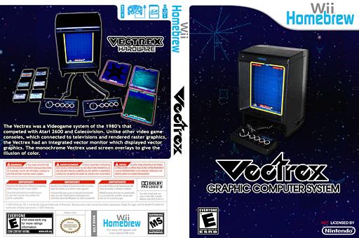 VectrexWii Homebrew cover (DVXA)