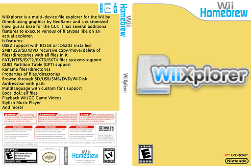 WiiXplorer Homebrew cover (DWXA)