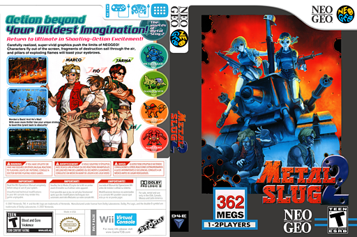 Metal Slug 2 VC-NEOGEO cover (EA2E)
