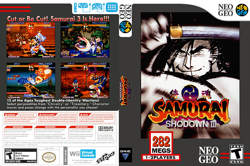 Samurai Shodown III VC-NEOGEO cover (EA4E)