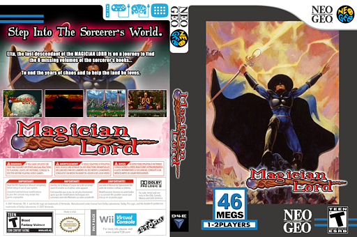Magician Lord VC-NEOGEO cover (EACE)