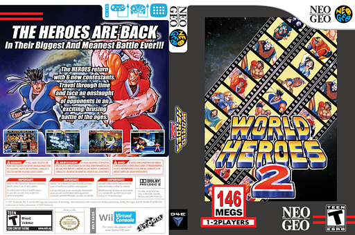 World Heroes 2 VC-NEOGEO cover (EAQE)