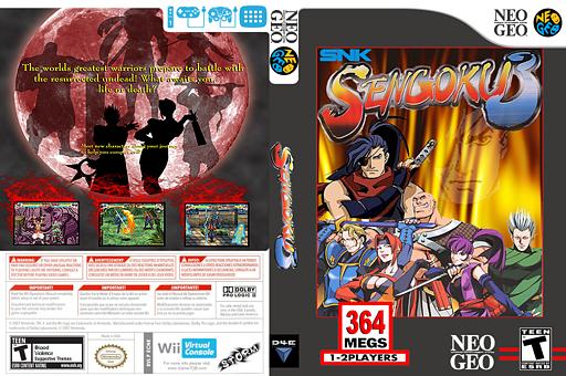 Sengoku 3 VC-NEOGEO cover (ECNE)