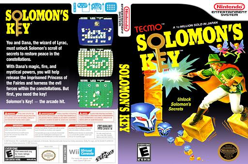 Solomon's Key VC-NES cover (FAOE)