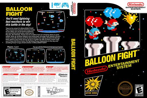 Balloon Fight VC-NES cover (FCPE)