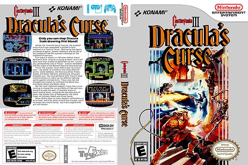 Castlevania III: Dracula's Curse VC-NES cover (FEQE)